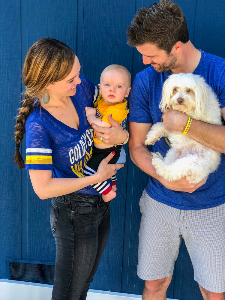 Family in Warriors gear by A Lady Goes West
