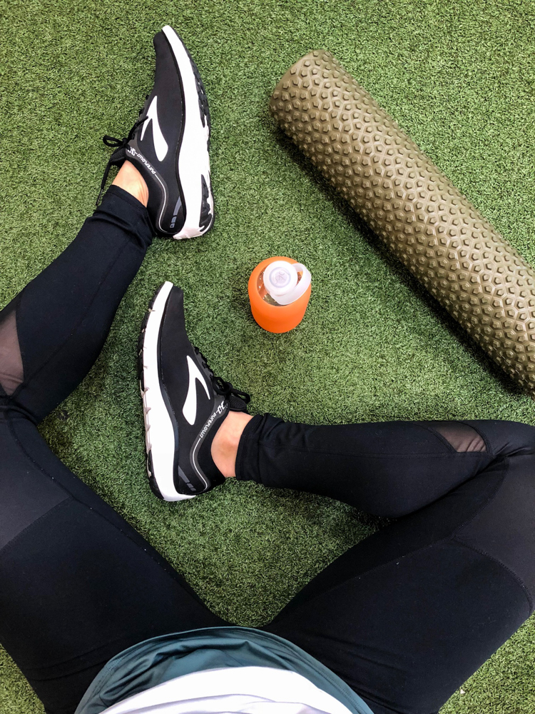 Foam roller and feet by A Lady Goes West