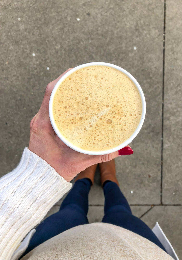 Golden latte from Peet's April 2018 by A Lady Goes West