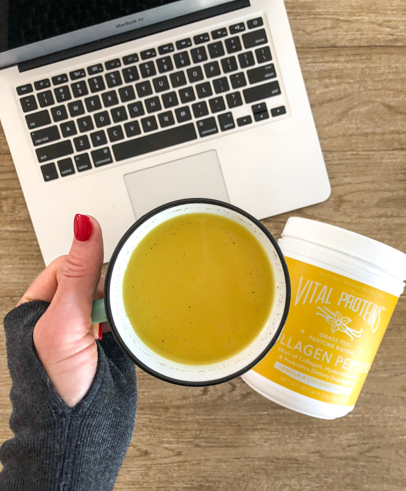 Golden milk collagen latte with Vital Proteins by A Lady Goes West