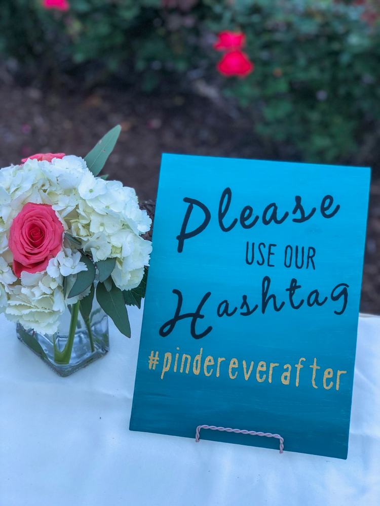 Matthew's wedding hashtag by A Lady Goes West