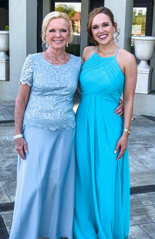 My mom and me at Matthew's wedding by A Lady Goes West