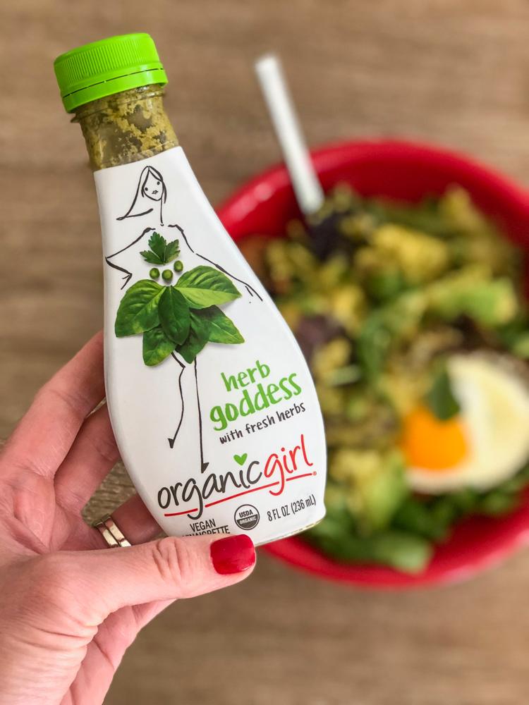 Organicgirl salad dressing on A Lady Goes West