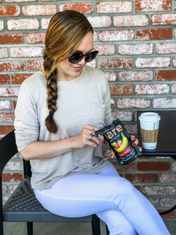Ashley with Bare Snacks at Starbucks by A Lady Goes West