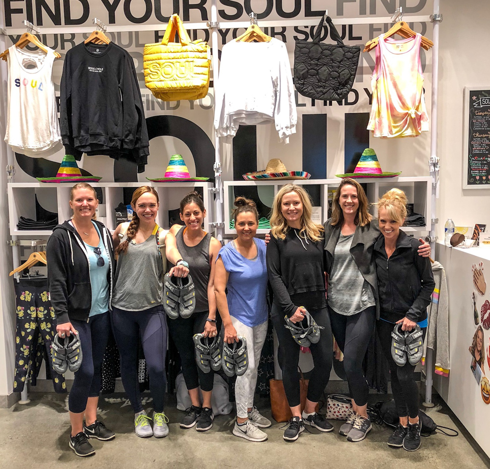 Girls at SoulCycle by A Lady Goes West