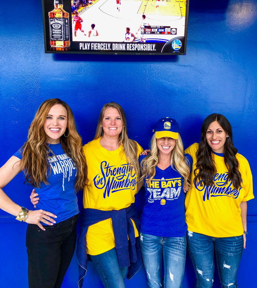 Girls at the round 3 Warriors game by A Lady Goes West