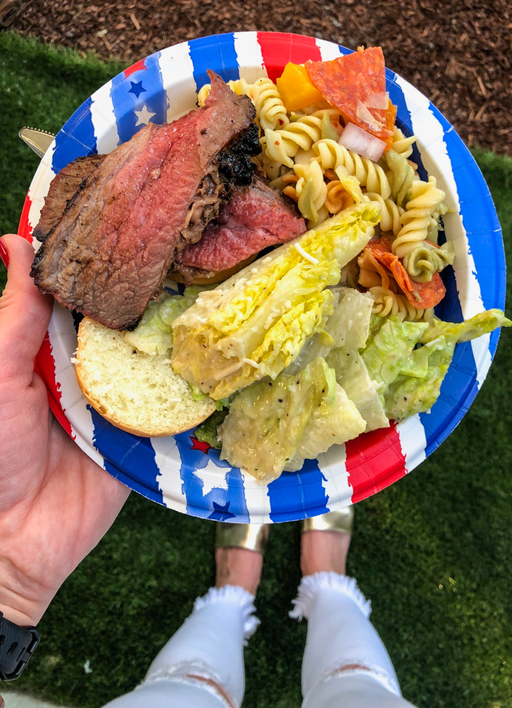 Memorial Day BBQ food plate by A Lady Goes West