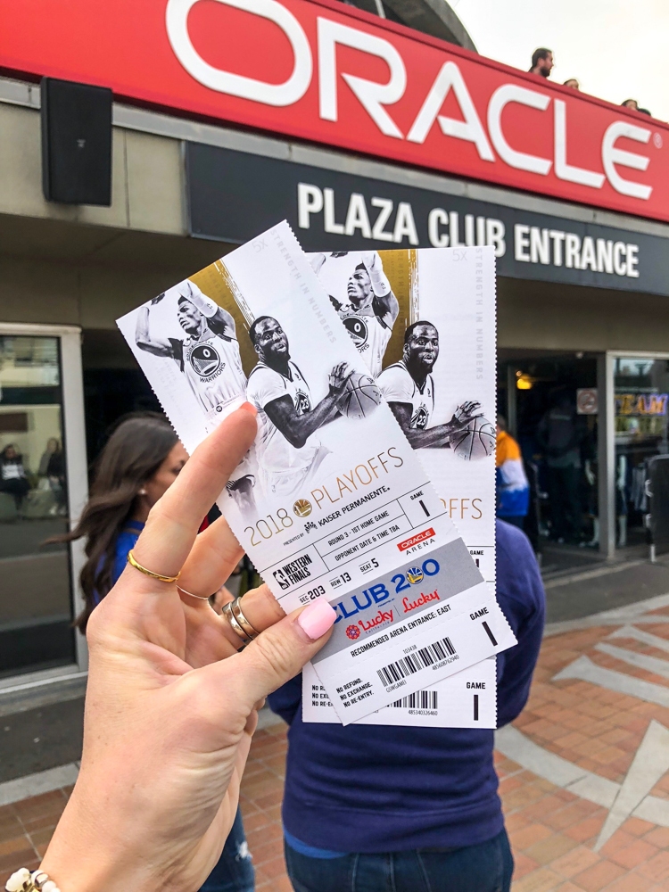 Tickets for the Warriors game by A Lady Goes West