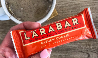 What I ate -- collagen tea and larabar A Lady Goes West