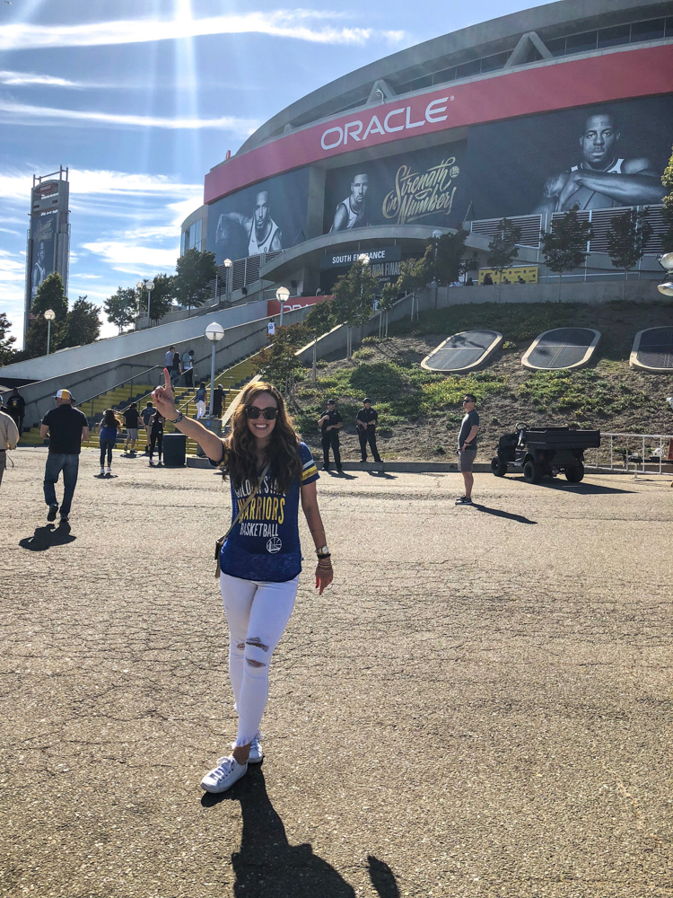 Ashley at Game 1 NBA Finals by A Lady Goes West