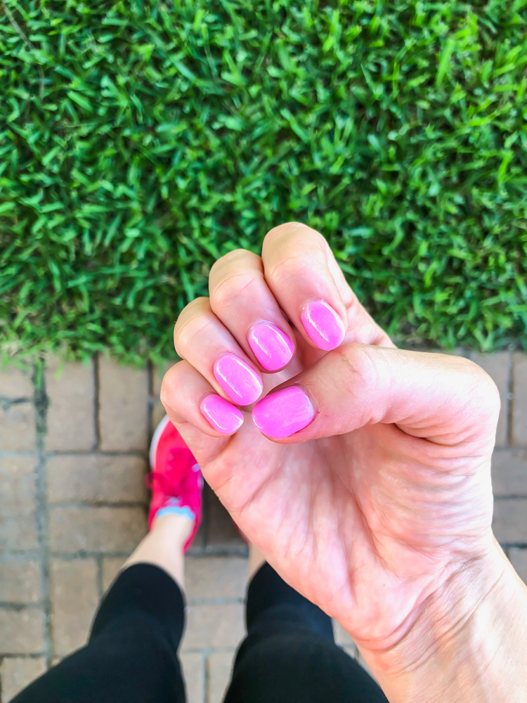 Pink nails by A Lady Goes West