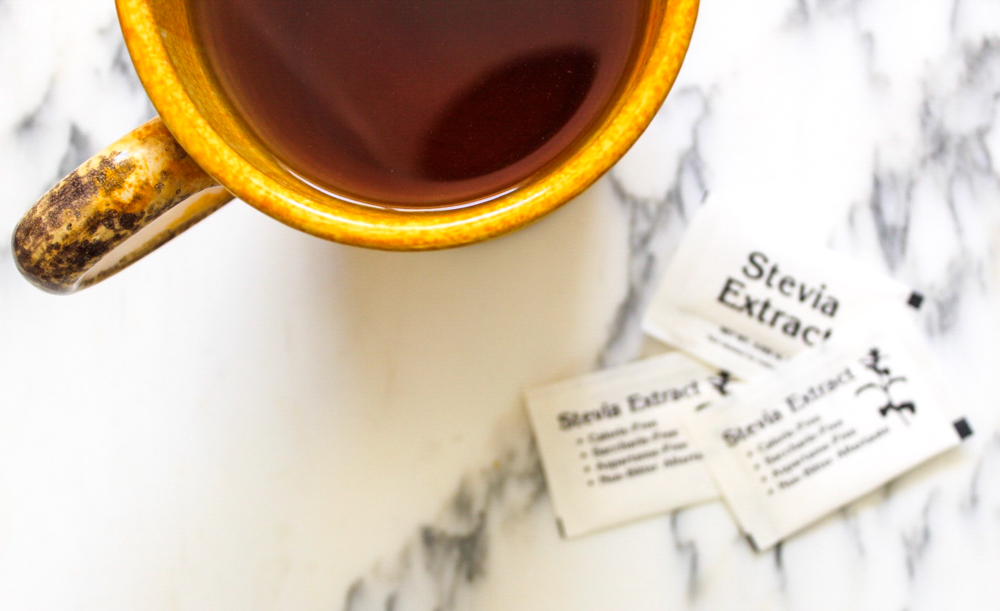 Stevia packets and tea easy and healthy grocery swaps from Whole Foods Market 365 by A Lady Goes West