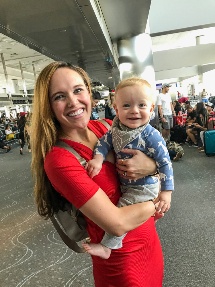 Ashley and Brady at Denver airport in July 2018 by A Lady Goes West