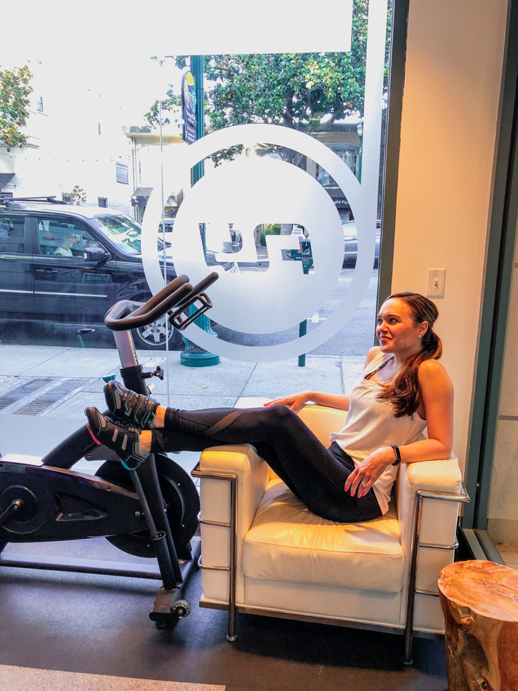Ashley at FlyWheel Sports in July 2018 by A Lady Goes West