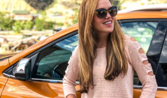 Ashley with Chevy Equinox in Glenwood Springs Colorado in July 2018 by A Lady Goes West