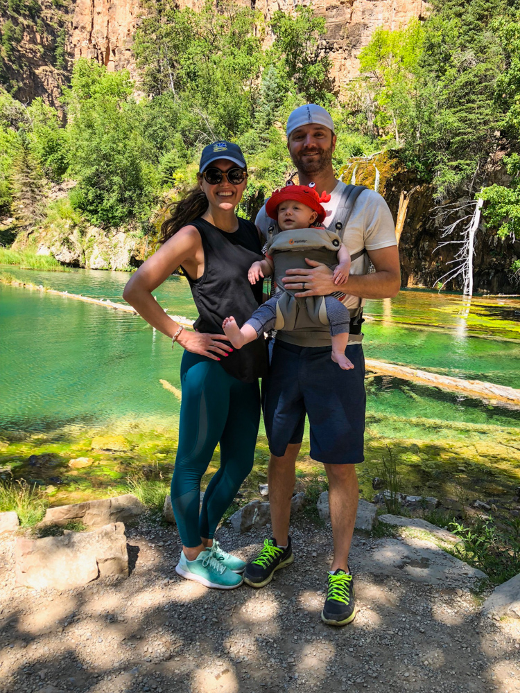 Family enjoying Hanging Lake in July 2018 by A Lady Goes West