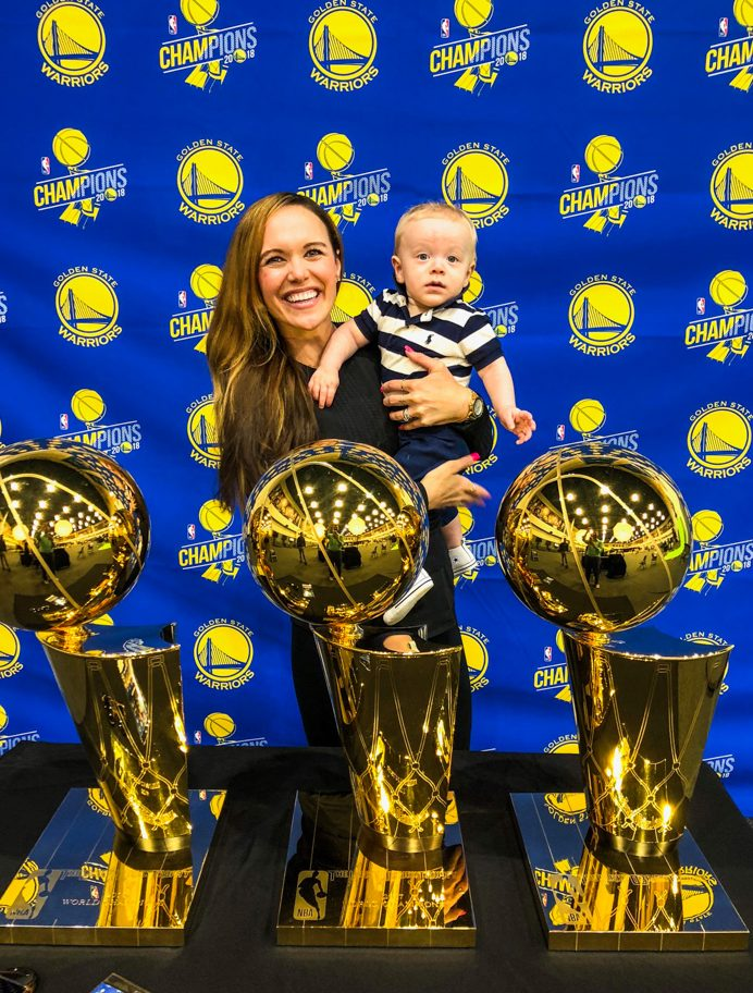 Visiting the Warriors office with Brady fave by A Lady Goes West