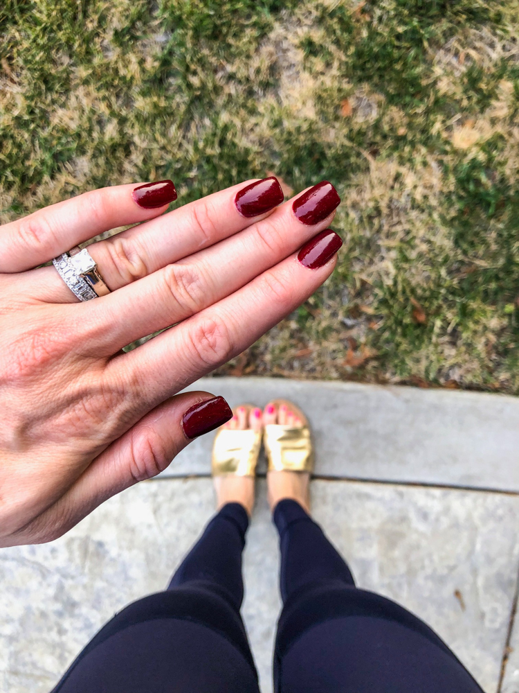 Ashley dark red nails August 2018 by A Lady Goes West