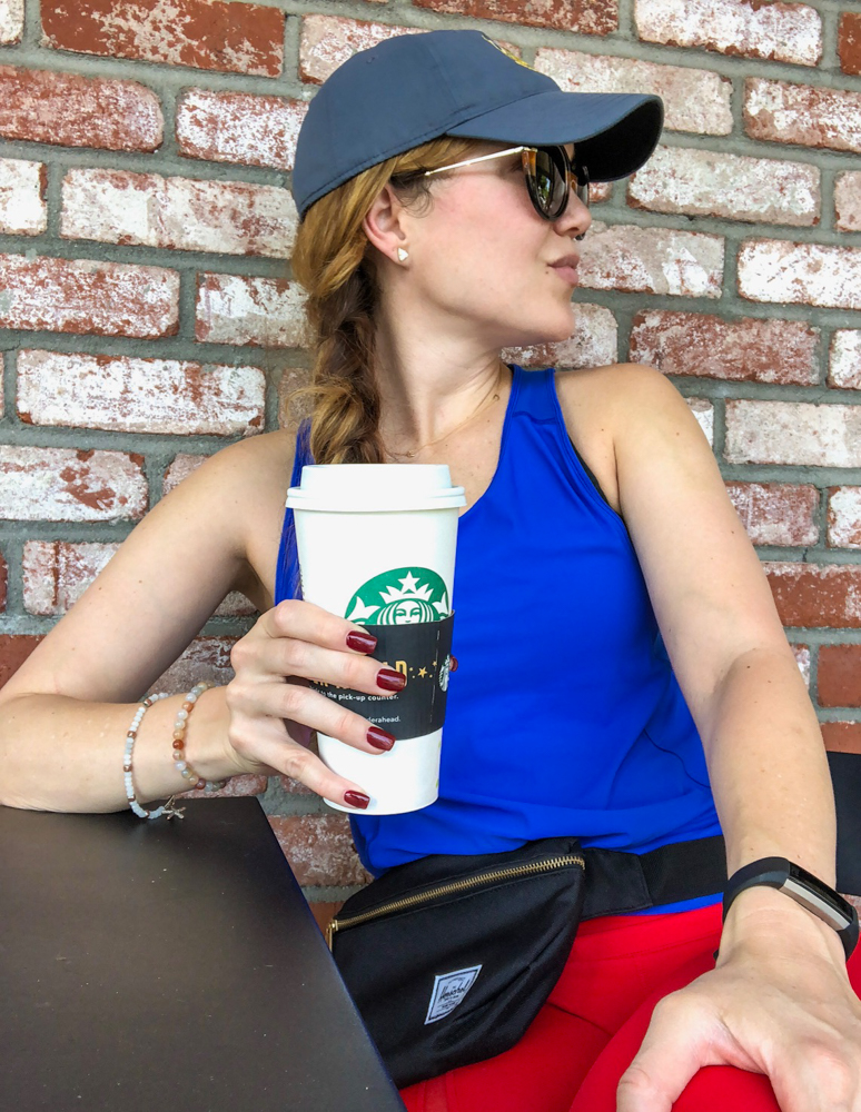 Ashley outside Starbucks by A Lady Goes West