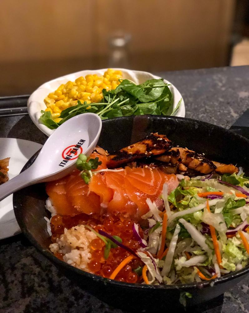 Salmon bowl at Ramen in Oakland -- latest favorites by A Lady Goes West
