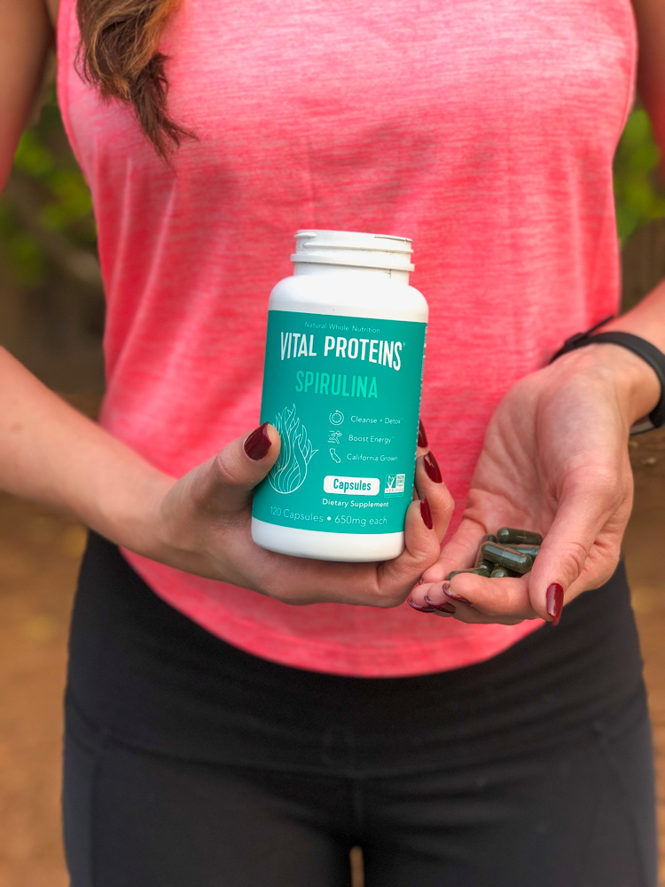 Spirulina capsules by Vital Proteins favorite by A Lady Goes West