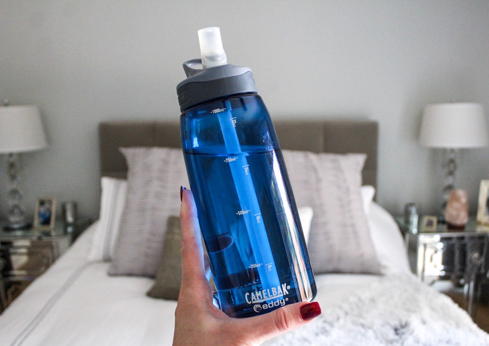 Water bottle - must-do morning routine - by A Lady Goes West