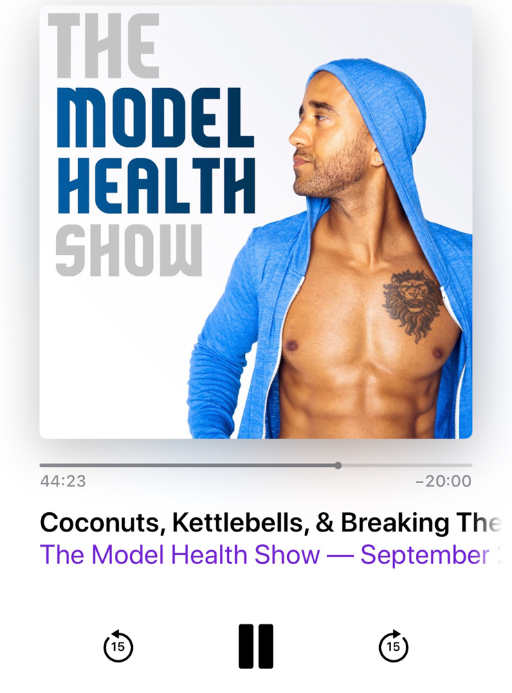 Model Health podcast in September 2018 - by A Lady Goes West