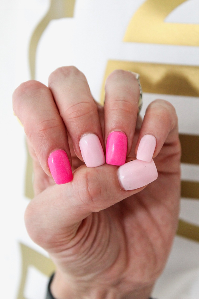 Pink manicure - by A Lady Goes West