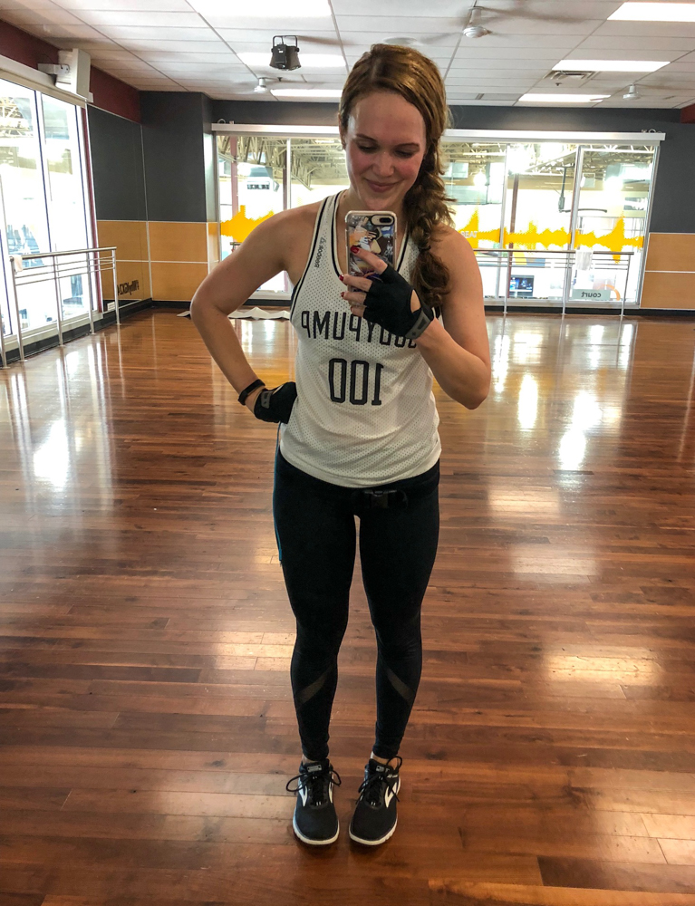 Ashley after teaching BODYPUMP - October 2018 by A Lady Goes West