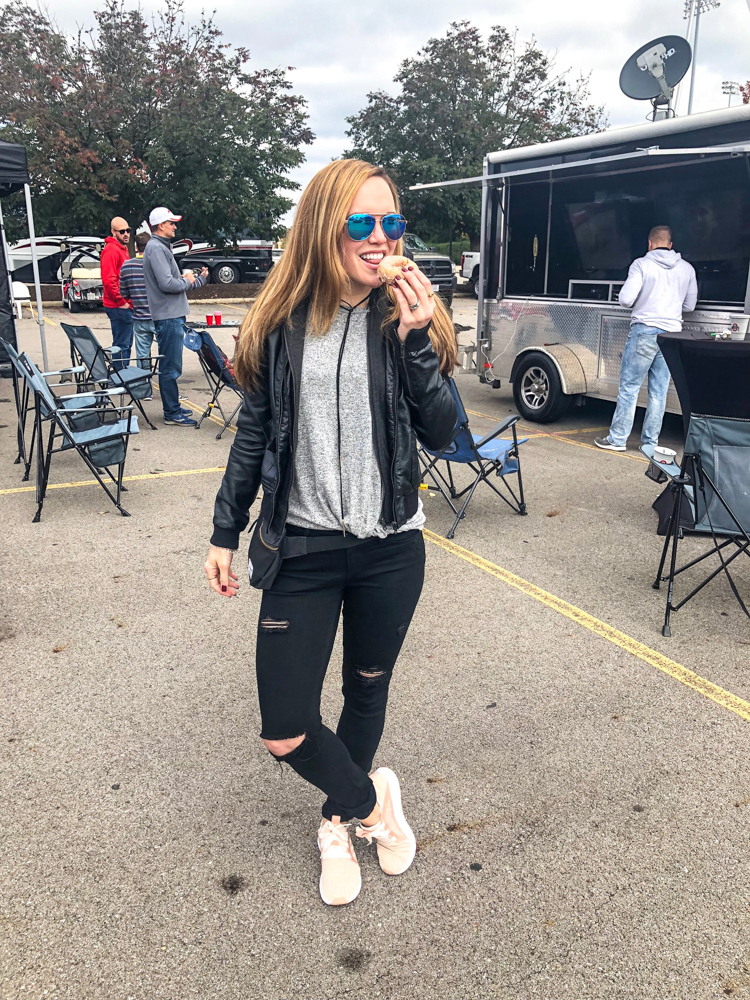 Ashley tailgating in Ohio by A Lady Goes West -- October 2018