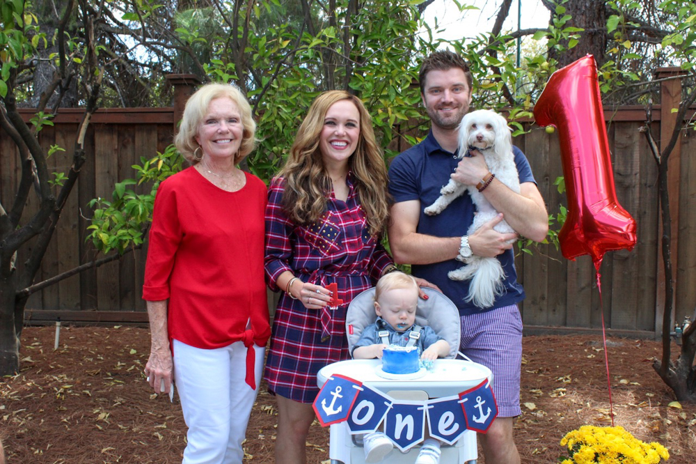 Brady's first birthday - family pic - September 2018 by A Lady Goes West