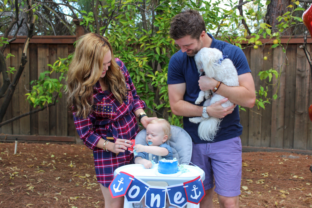 Brady's first birthday - family with Brady and Rudy - September 2018 by A Lady Goes West