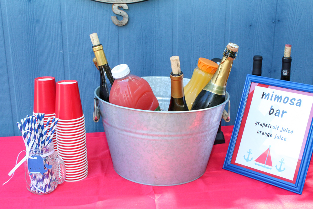 Brady's first birthday mimosa bar - September 2018 by A Lady Goes West
