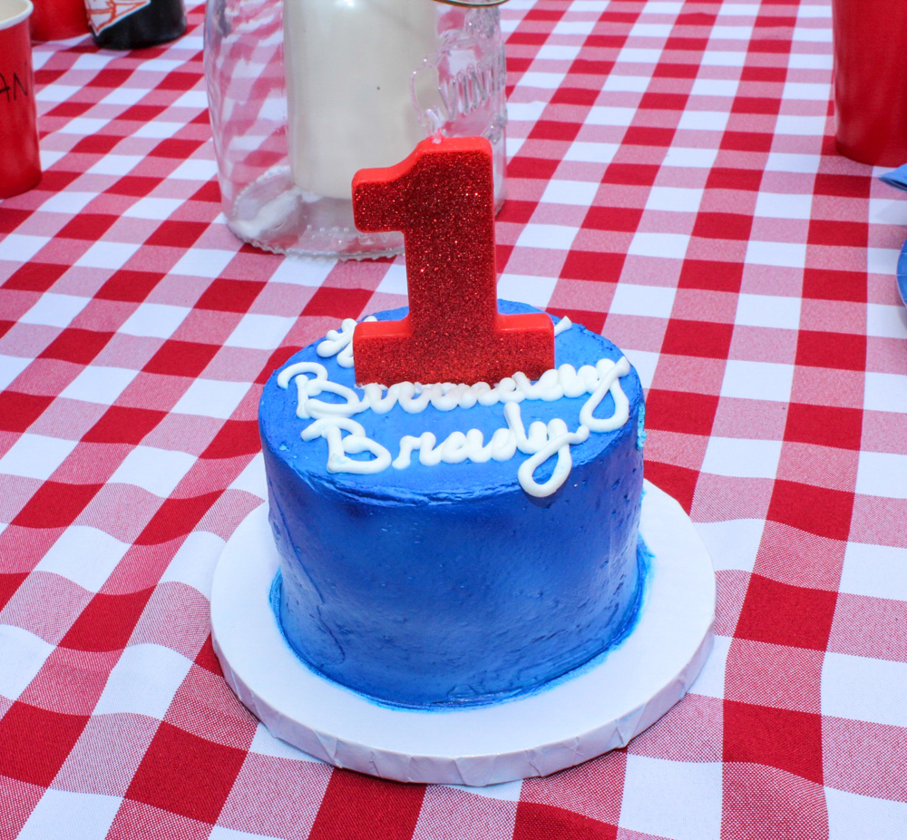 Brady's first birthday smash cake - September 2018 by A Lady Goes West