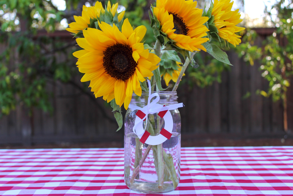 Brady's first birthday sunflowers - September 2018 by A Lady Goes West