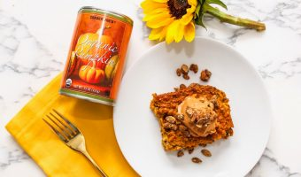 Superfood pumpkin oatmeal breakfast bake recipe by A Lady Goes West