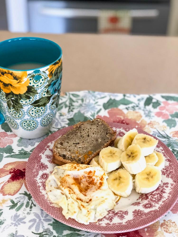 Banana bread breakfast by A Lady Goes West