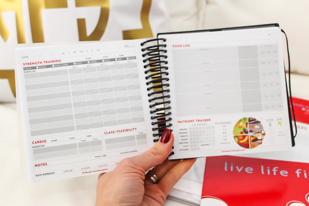 FitBook fitness planner by A Lady Goes West -- November 2018