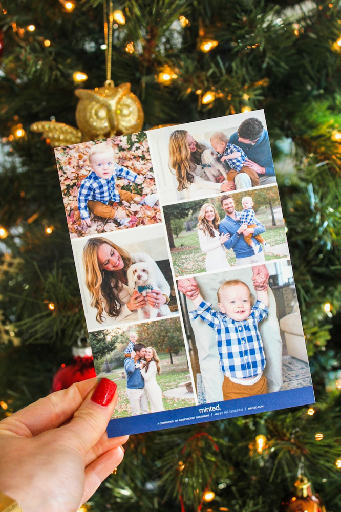 Back of Family holiday Christmas cards by Minted by A Lady Goes West -- December 2018
