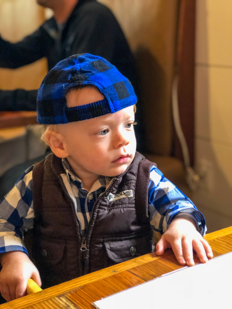 Brady at brunch by A Lady Goes West -- December 2018