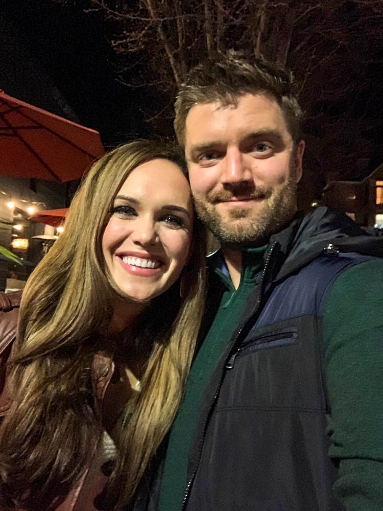 Ashley and Dave out at night by A Lady Goes West -- January 2019