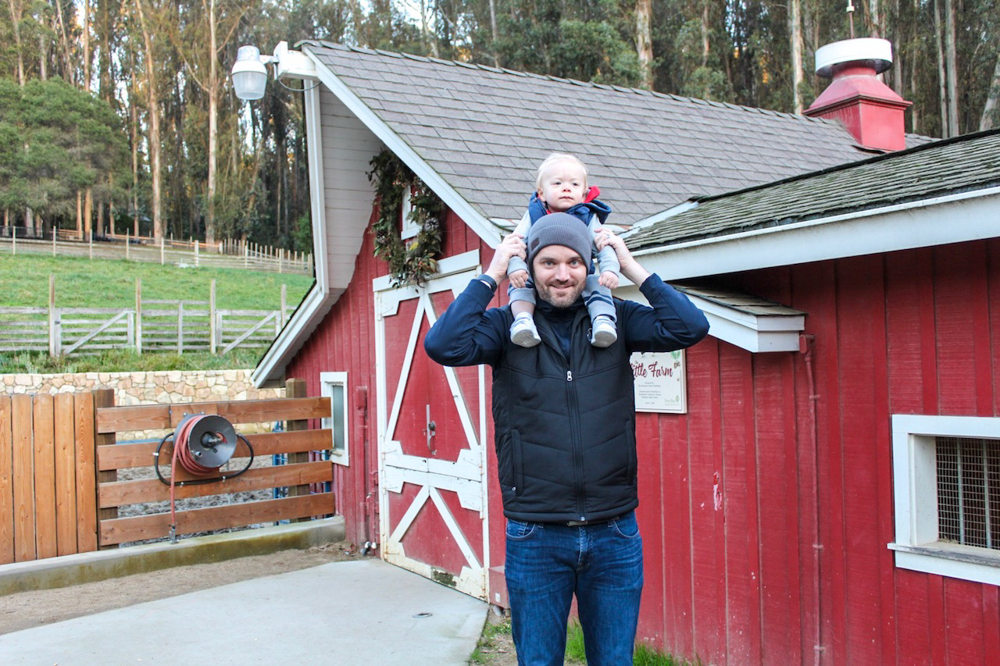 Brady and Dave at The Little Farm by A Lady Goes West -- December 2018