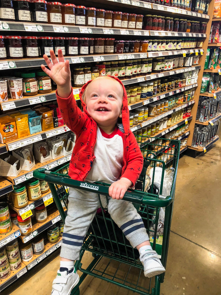 Brady at Whole Foods by A Lady Goes West -- December 2018