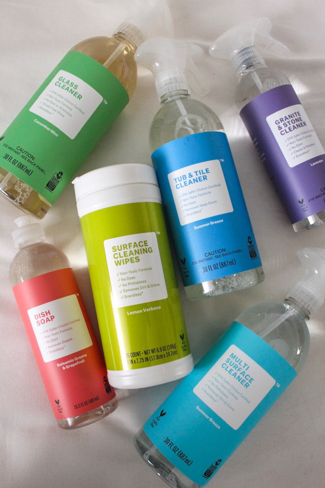 Brandless cleaning products by A Lady Goes West -- January 2019