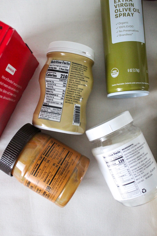 Brandless foods by A Lady Goes West -- January 2019