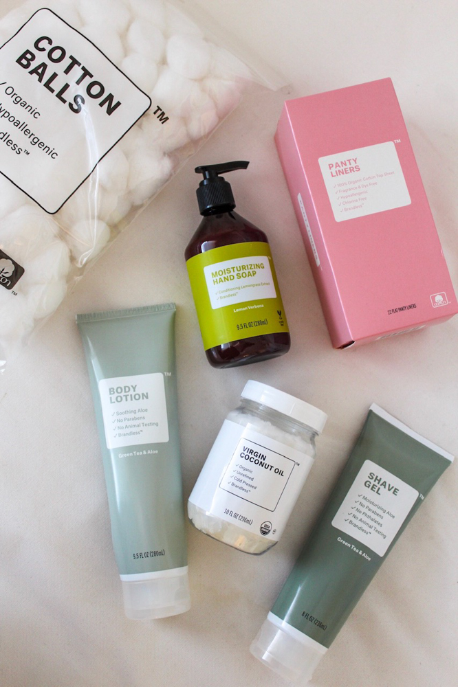Brandless personal care products by A Lady Goes West -- January 2019