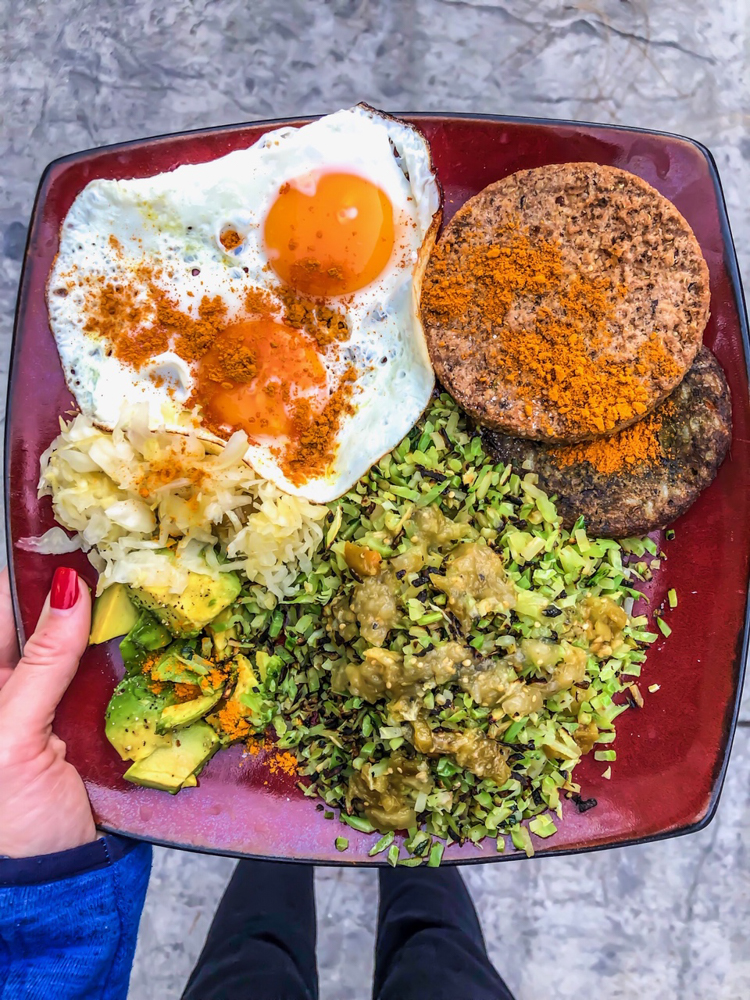 Veggie dinner by A Lady Goes West -- January 2019