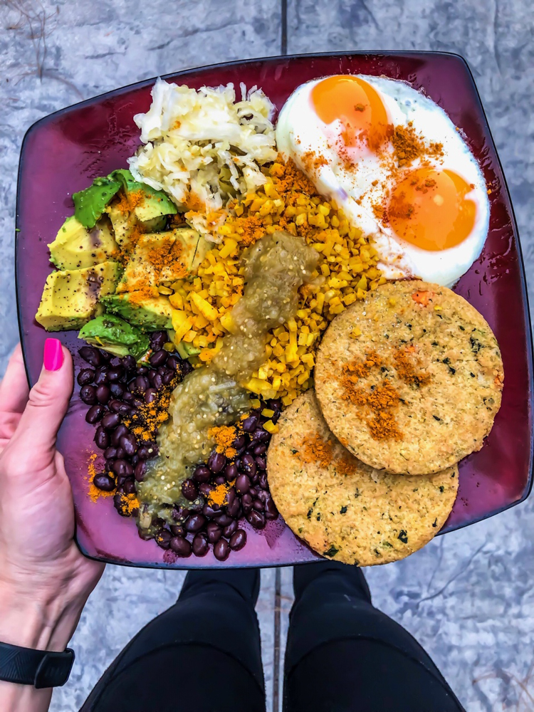 Veggie dinner plate by A Lady Goes West -- January 2019