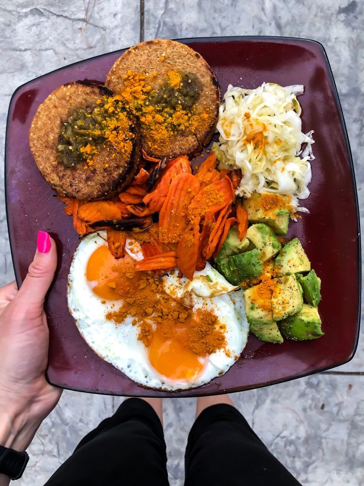 Veggie plate by A Lady Goes West -- January 2019