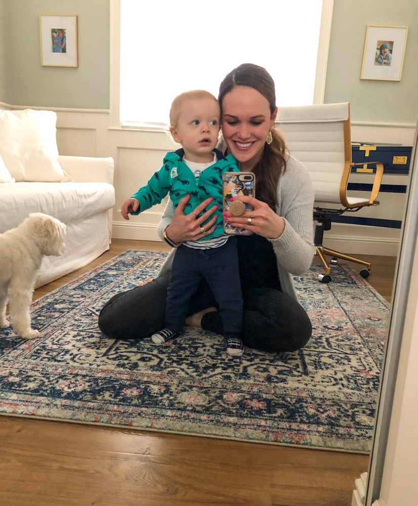 Brady and Ashley in the office by A Lady Goes West -- Brady's 16-month update
